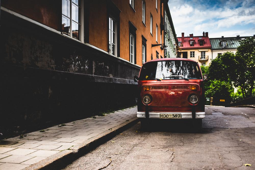 Old bus, Stockholm, Sweden