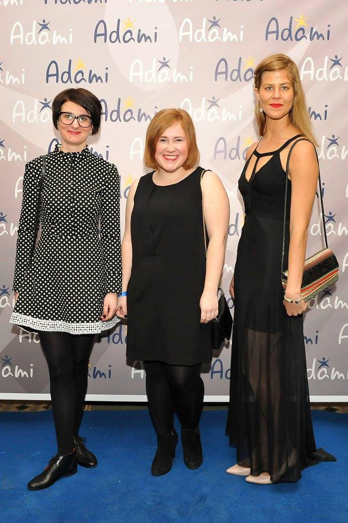 Yulia Kockaja (ADAMI jury 2015), Oksana Piddubna, and Caroline Sutcliffe (winner for web pages)