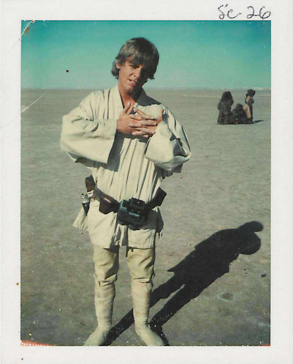 Mark Hamill on set in Tunisia for  Star Wars Episode IV: A New Hope  (Spring, 1976).