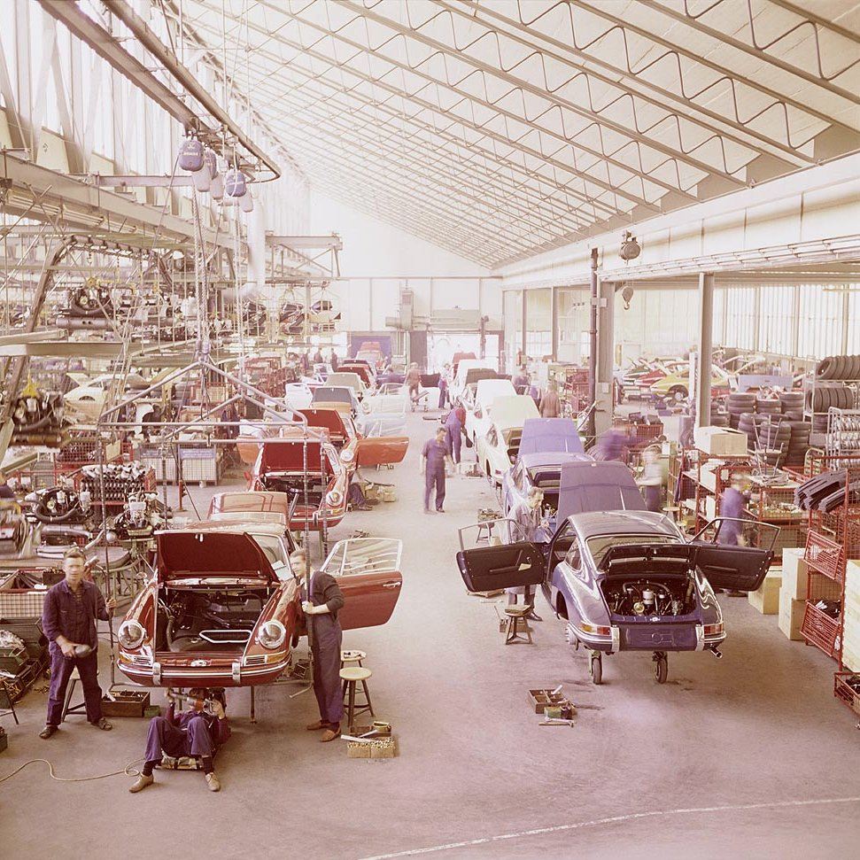 Porsche factory in Zuffenhausen, Germany.