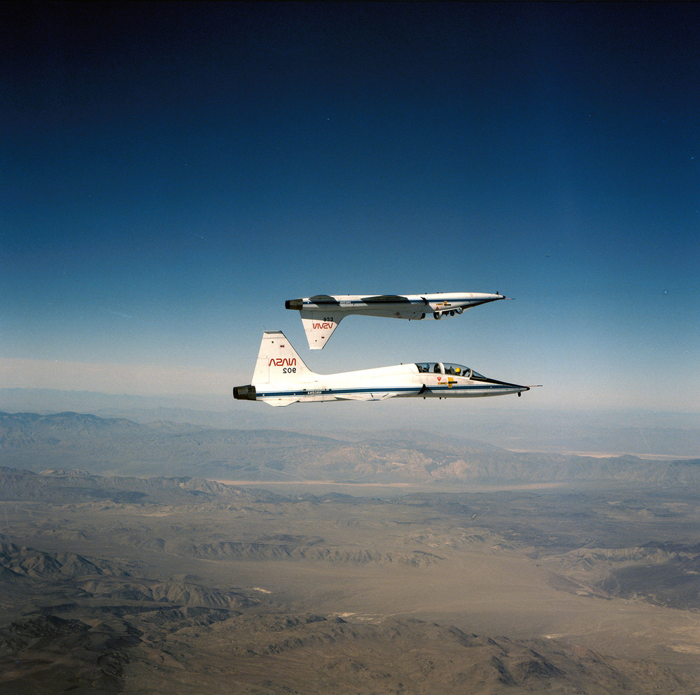 NASA T-38 Talon training aircrafts.