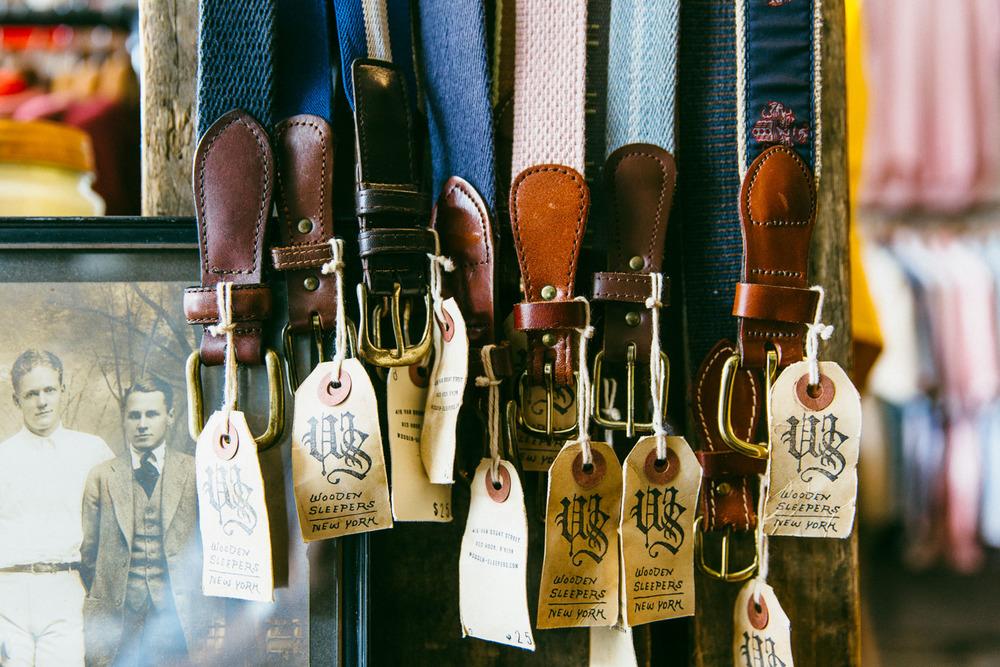 Vintage surcingle belts.