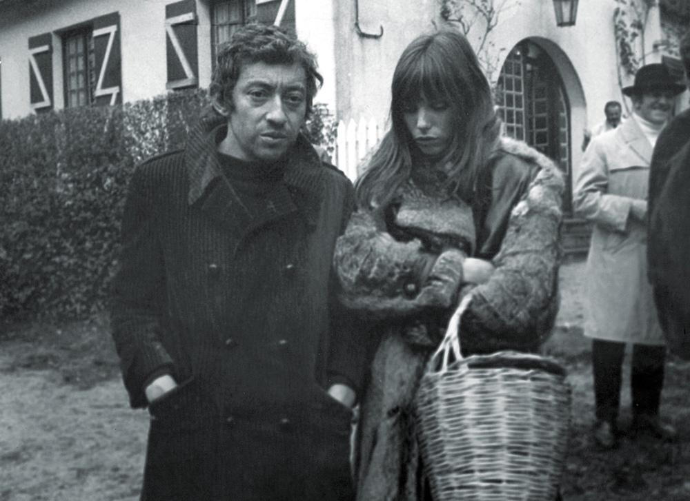 Birkin with lover, Serge Gainsbourg.