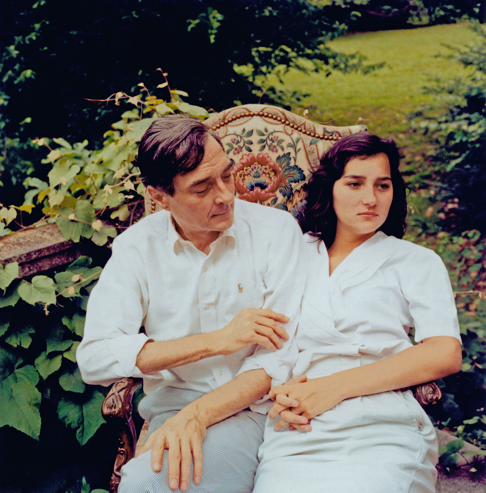 William Eggleston with his daughter.