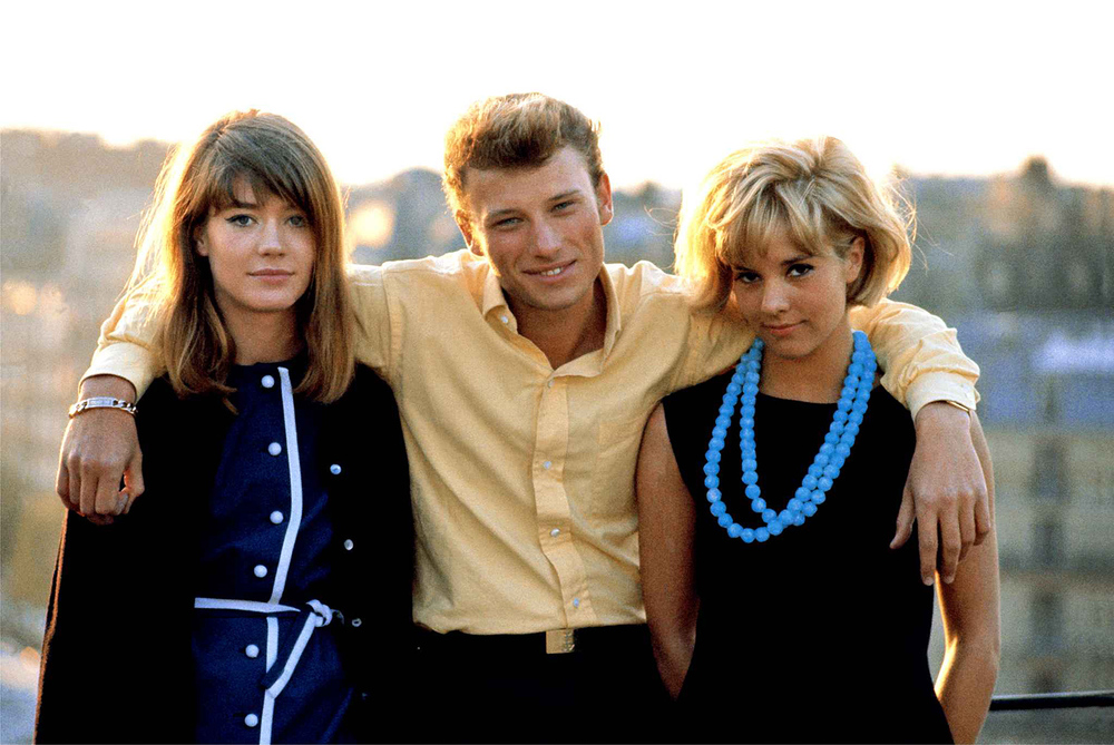 Françoise Hardy, Johnny Hallyday, and Sylvie Vartan.