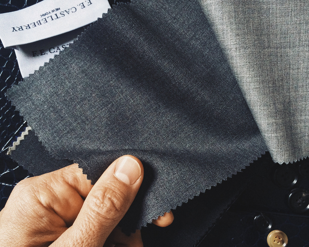Vitale Barberis Canonico four seasons super 130s grey twill weave