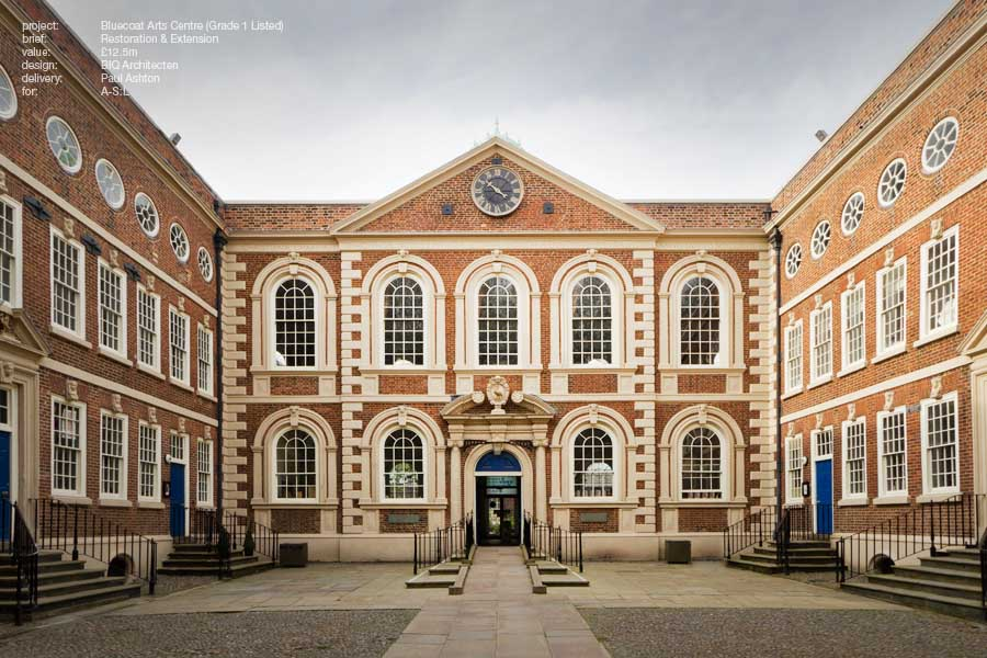 Grade I Listed Bluecoat Chamber in Liverpool