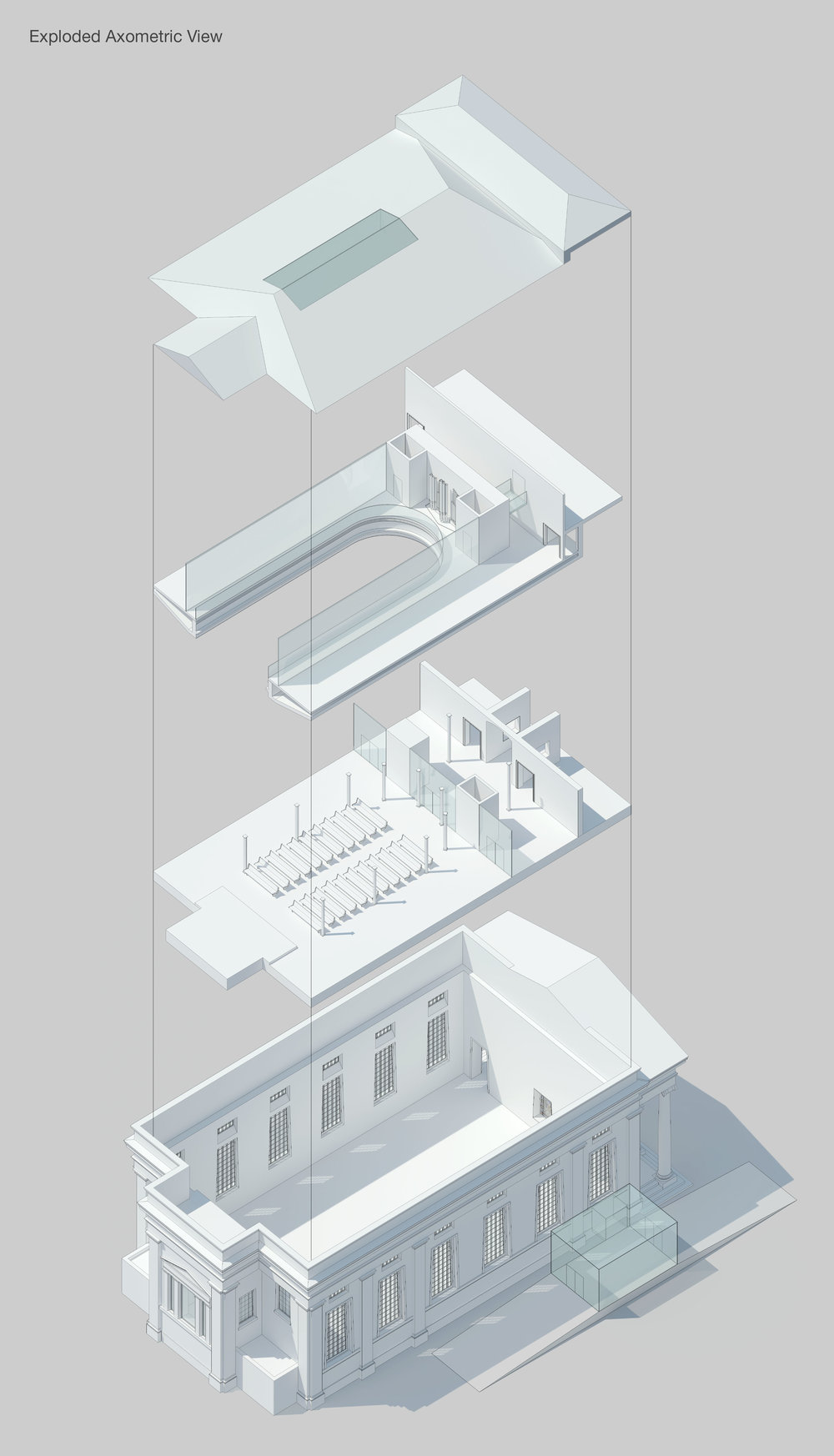 St Brides Liverpool Georgian Quarter Exploded Axometric