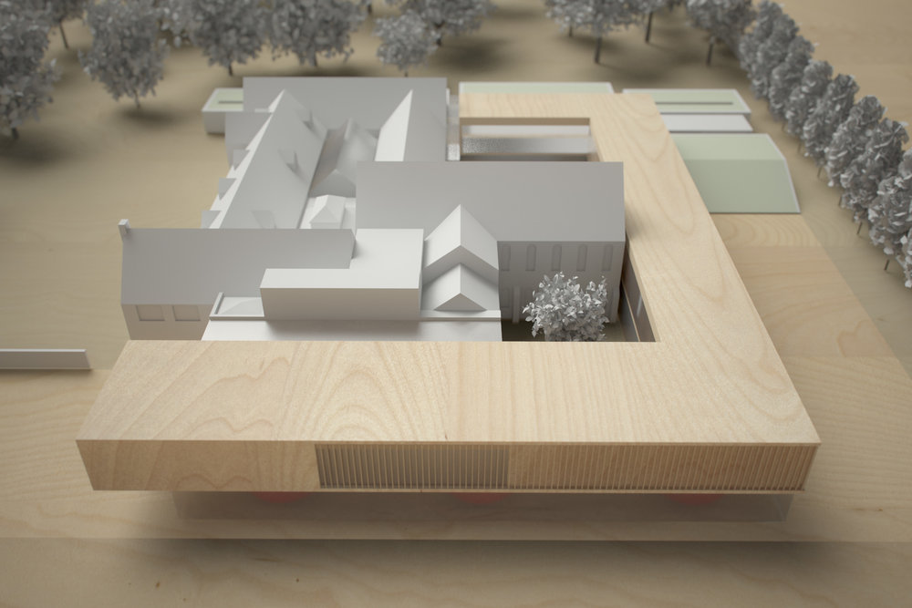 Monastery Building Conversion and Extension Liverpool Physical Model 3