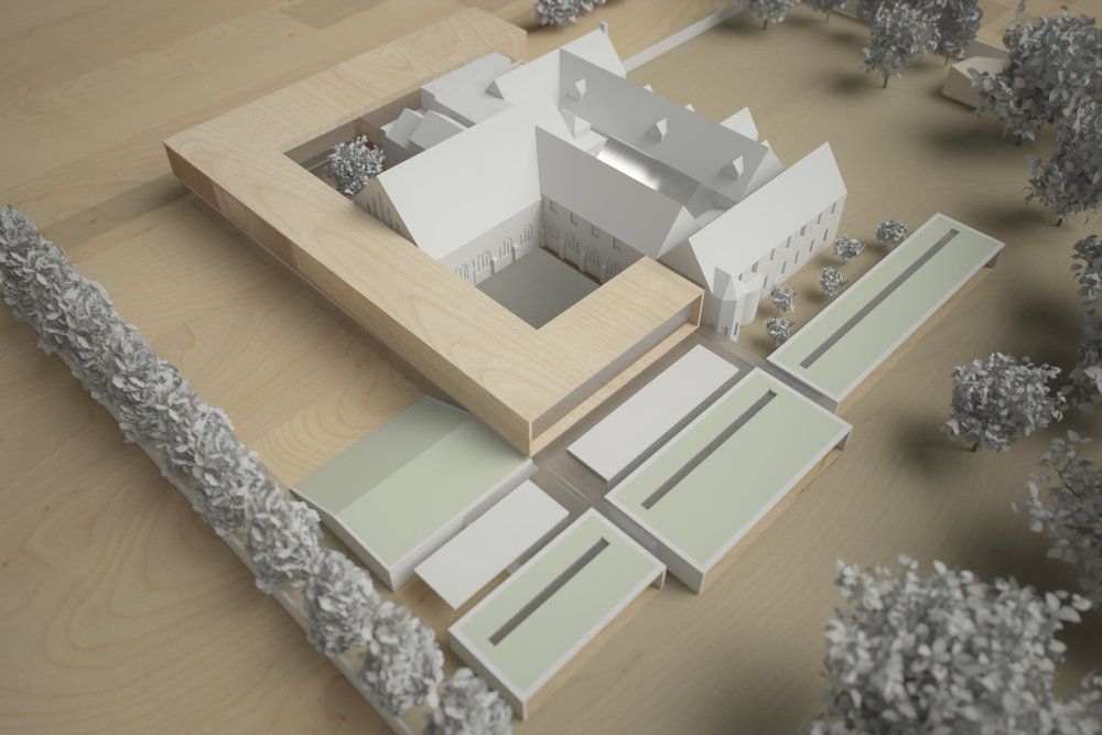 Monastery Building Conversion and Extension Liverpool Physical Model