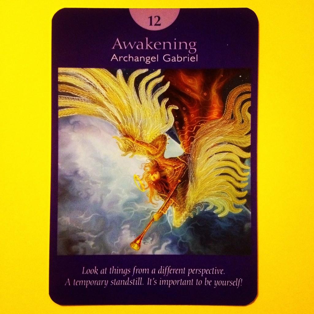 awakening archangel gabirel angel tarot