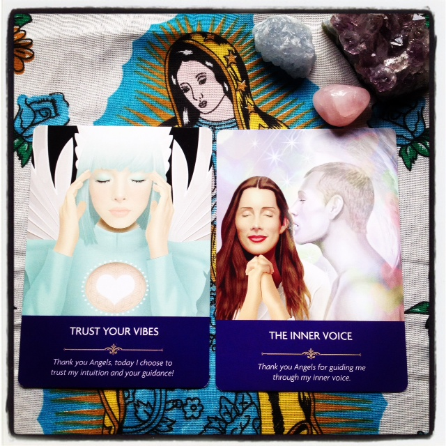Trust your vibes The inner voice Kyle Gray Angel Prayers Oracle Cards