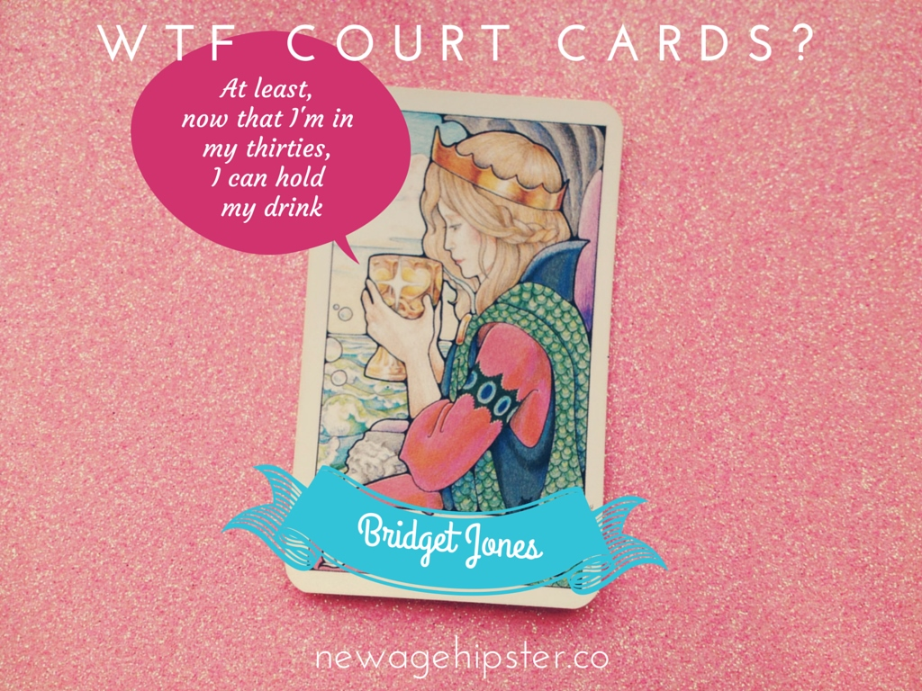 Bridget Jones, Queen of Cups - Hanson Roberts Tarot