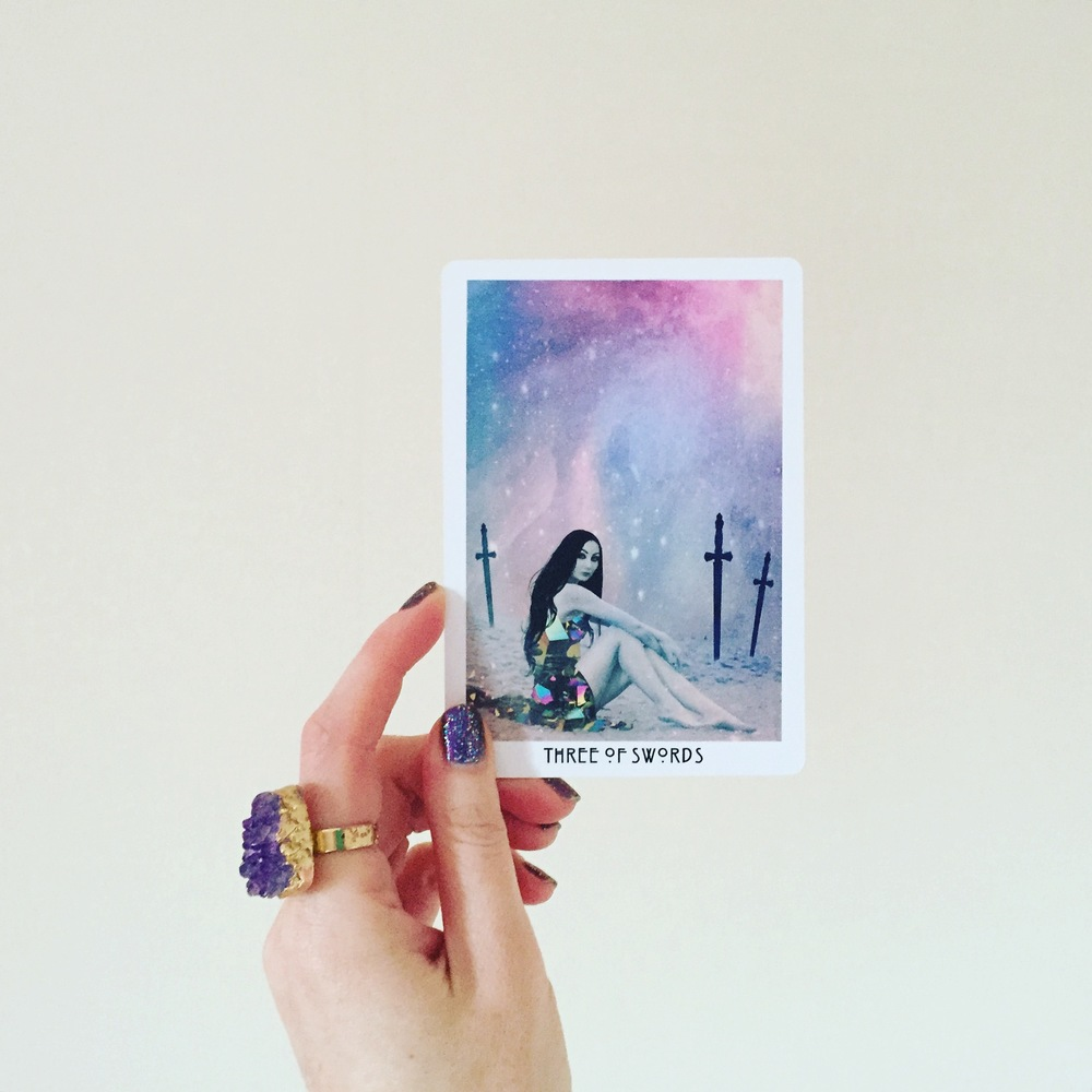 The Three of Swords chic from the Starchild Tarot is totally rocking her own power! x