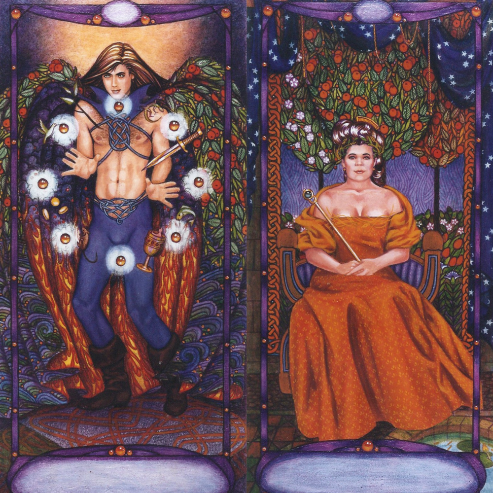 The original artwork for the Magician and Empress cards! Amazing! x