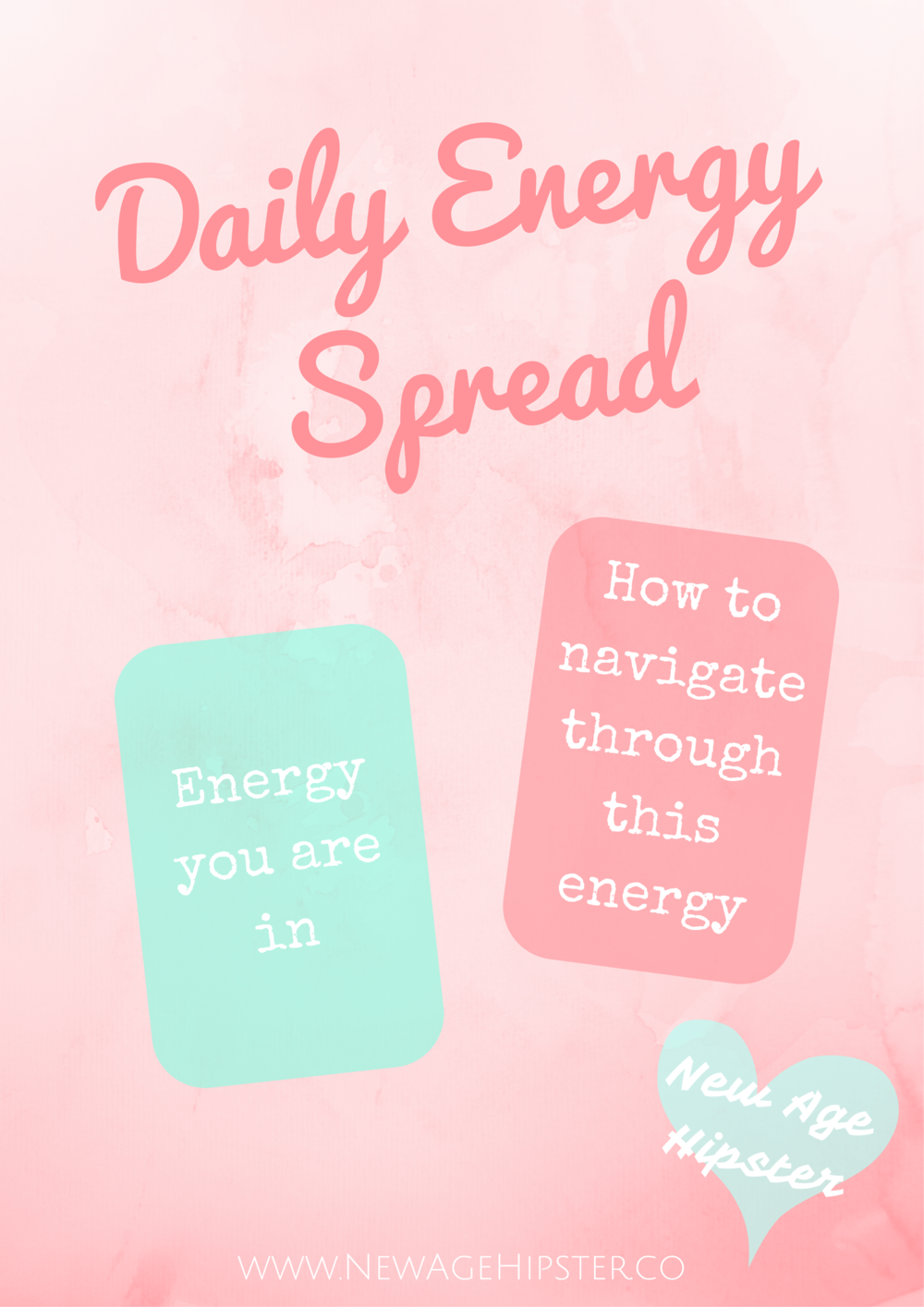 Daily Energy Spread for Tarot or Oracle Cards - New Age Hipster
