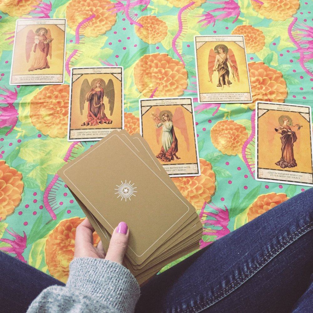 5 cards, 5 movements! :O #TheAngelOracle by Ambika Wauters x