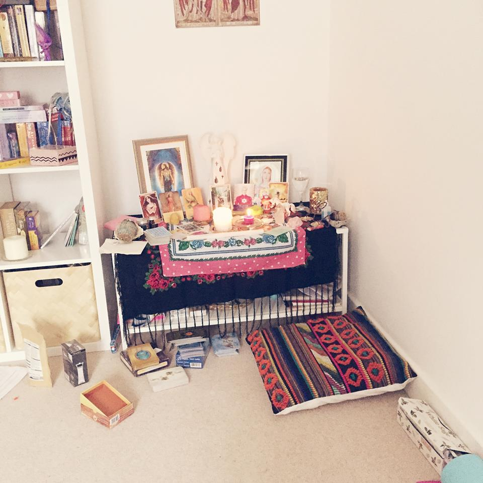 What my altar looks like before the new moon... x