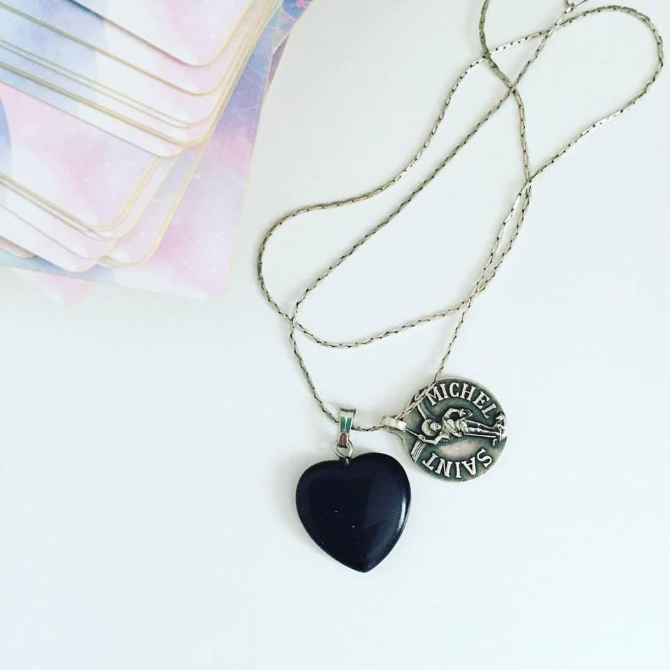 My fave protection combo! Black Onyx + Saint Michel x
