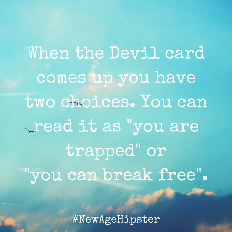 Breaking Free with the Devil Tarot Card x