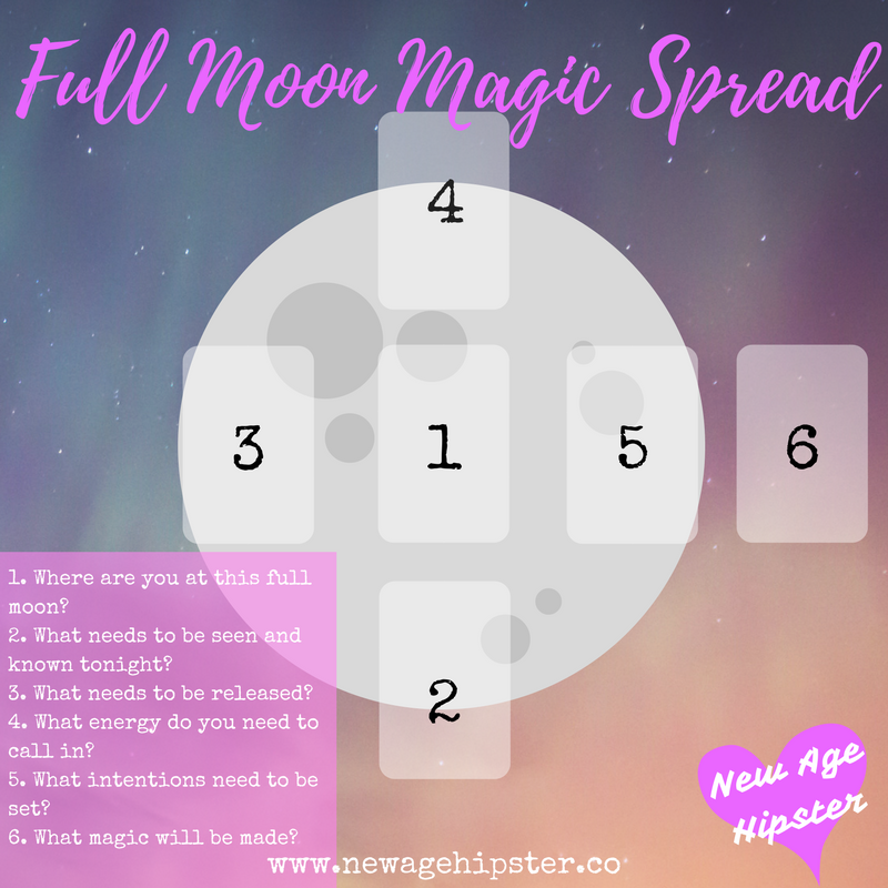 Full Moon Magic Spread for Tarot + Oracle x — New Age Hipster