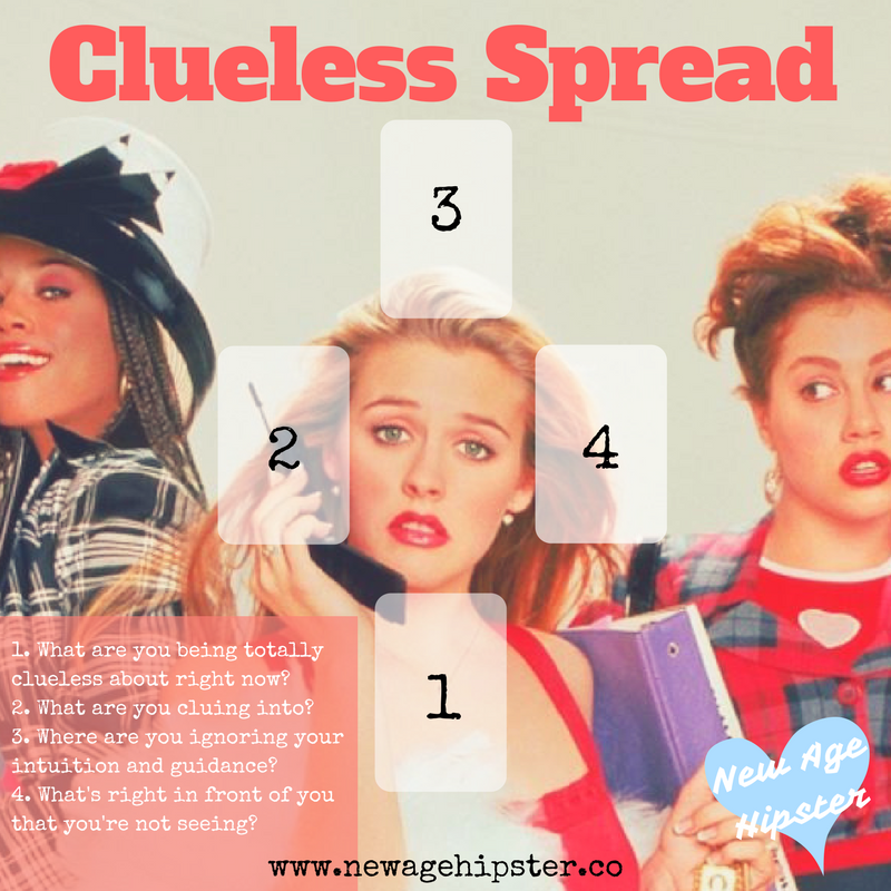 Clueless Tarot Spread New Age Hipster x