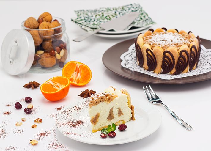 QimiQ Mascarpone-Maronicreme Torte