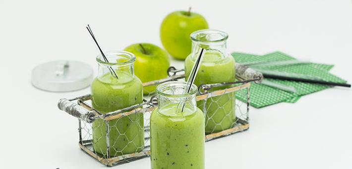 Grüner Smoothie mit Chia Samen