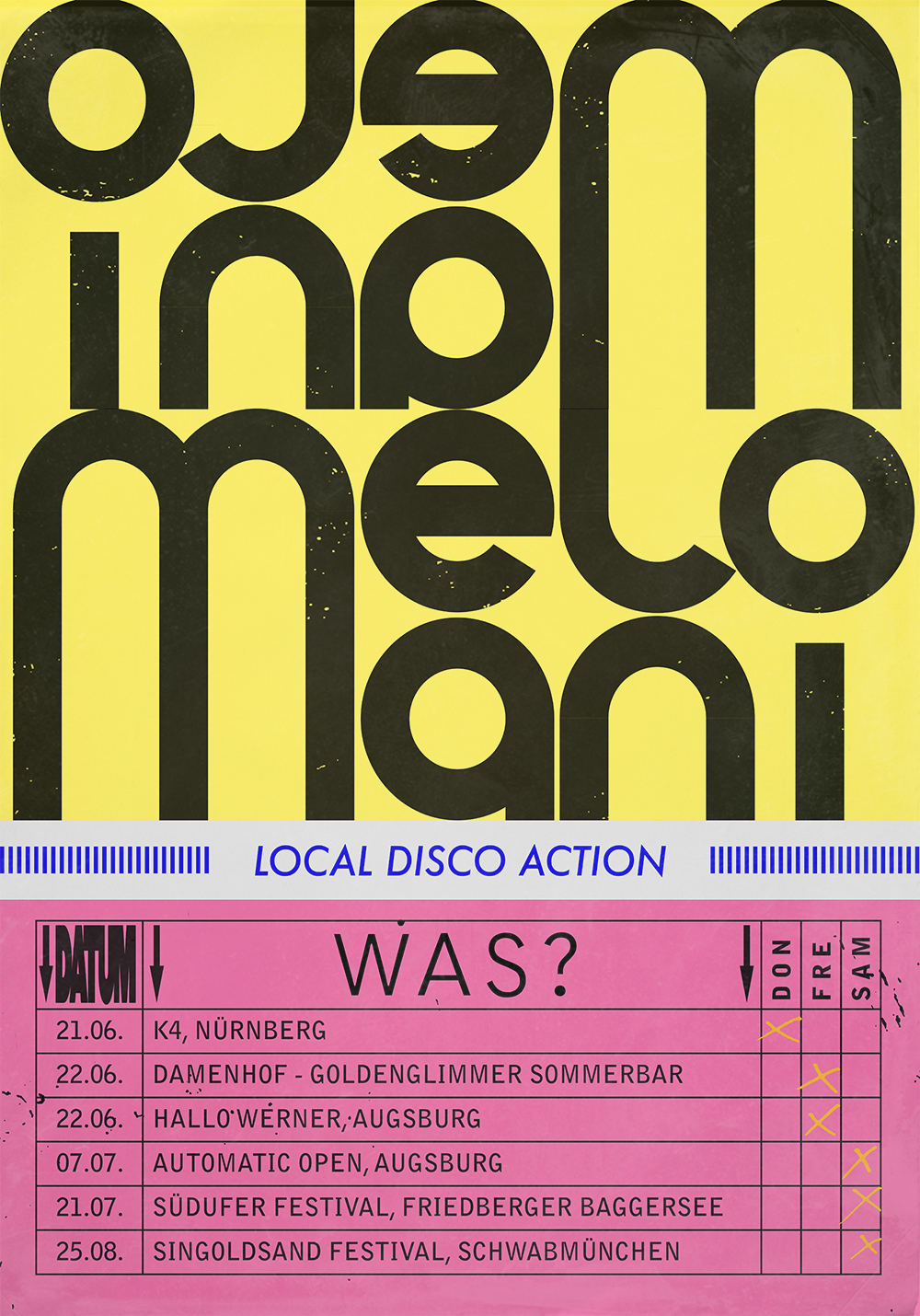 LOCAL DISCO ACTION // Event poster