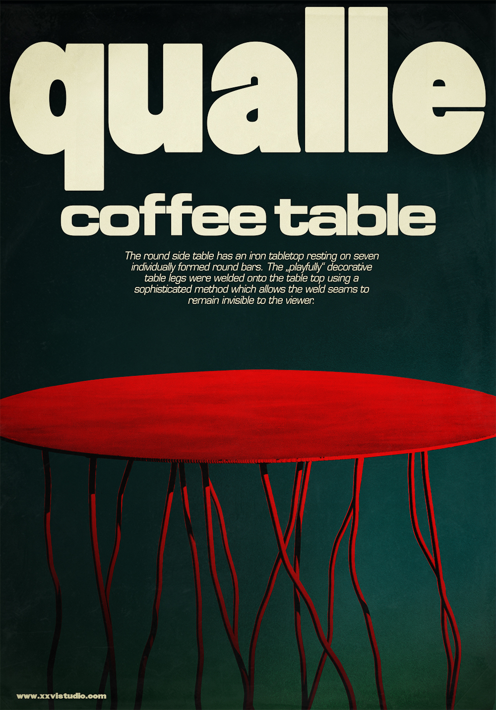 "XXVI STUDIO // Poster for my coffee table ""Qualle""."