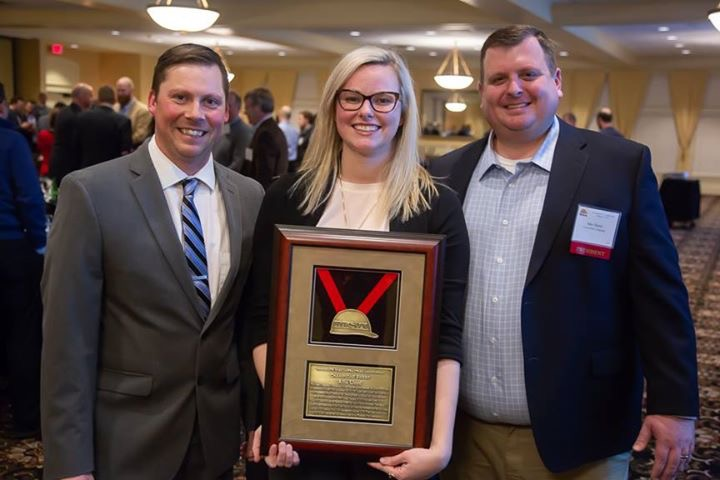Allie Lloyd with MSA Executive Director David Bruneau and MSA President Jake Bauer