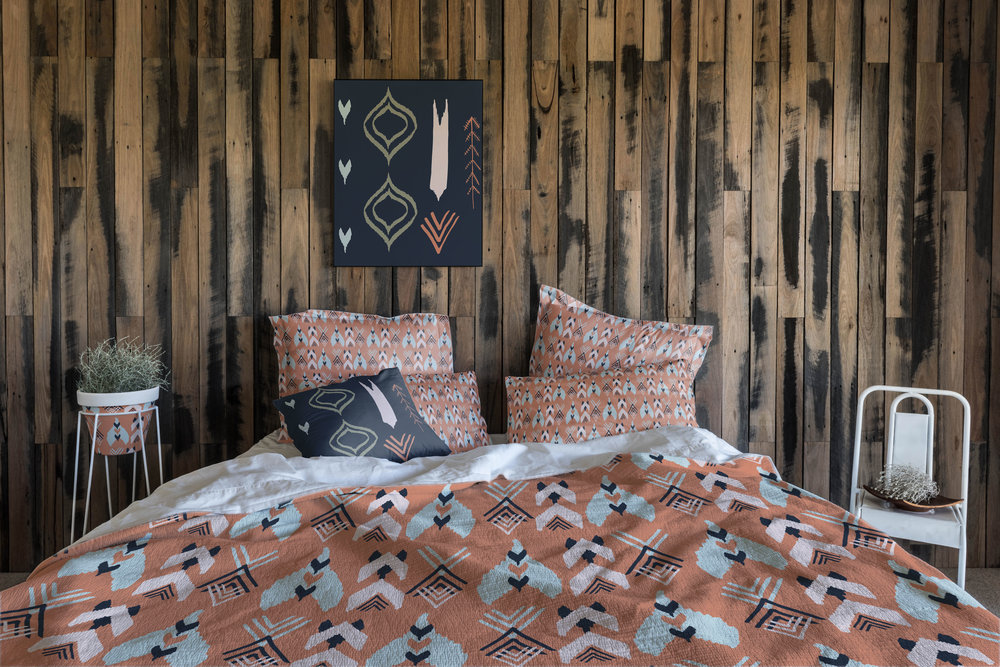 """Pow Wow"" Bedding Solution from The Global Tribe Collection"