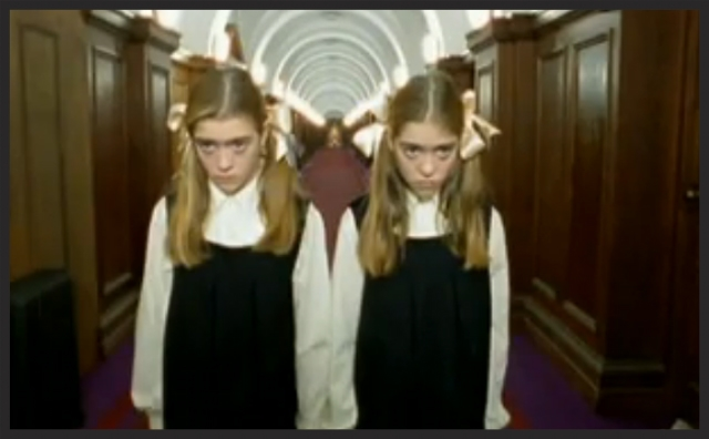 "The video for Karmacoma was directed by Jonathan Glazer. It has many deliberate movie references in it, particularly to the 1980 Stanley Kubrick film, ""The Shining""."