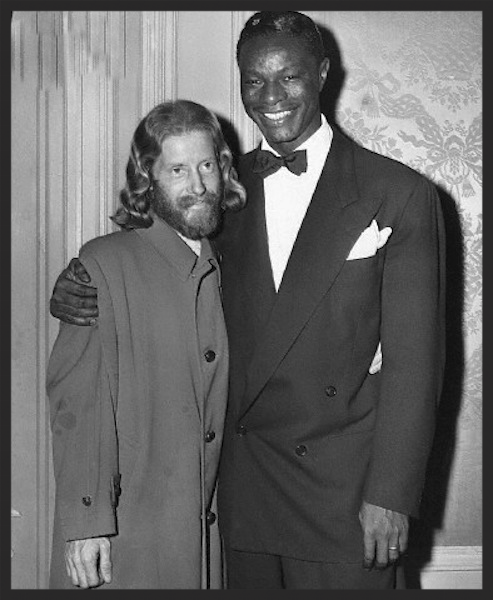 Eden Ahbez, the writer of Nature Boy, and Nat King Cole, the singer of the orginal track, pictured in 1948.