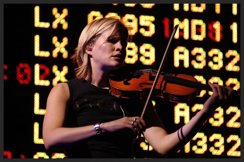 Lucy Wilkins performing the violin part of Antistar live in 2003.