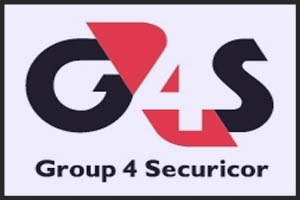 "Logo for the UK security firm ""Group 4″. The lyrics of Group Four are about a nightwatchman on patrol and the name of the song was most likely taken from this security firm."