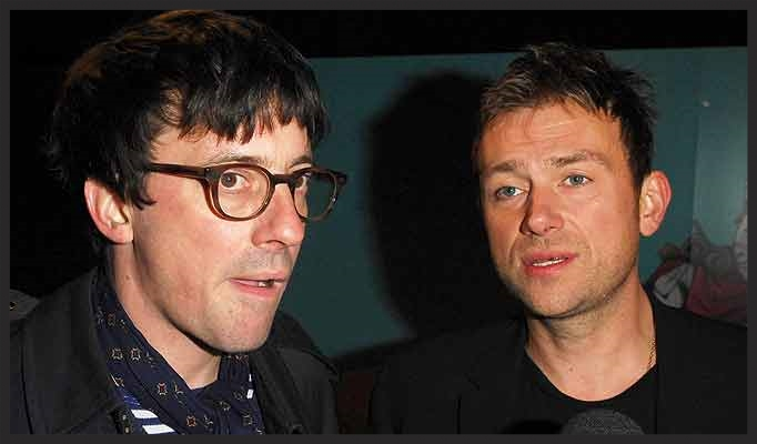 Damon Albarn and Graham Coxon of Blur who remixed Angel for its single release.