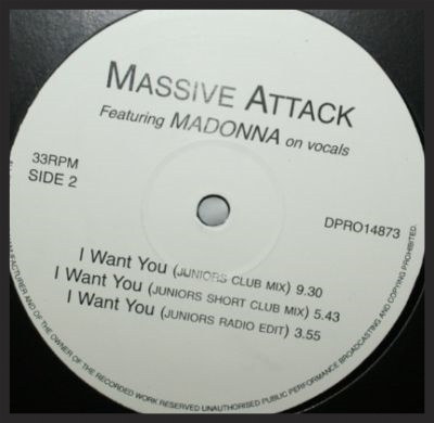 Rare promo vinyl of the I Want You single, pressed before it was dropped from being formally released.