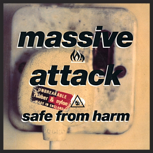 The Front Cover Of The Safe From Harm Single Release.