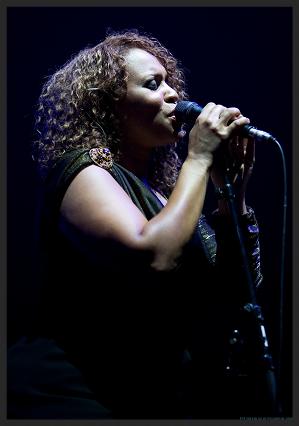 Deborah Miller, live vocalist on Safe From Harm.