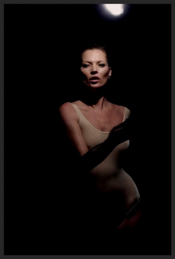 Still image of Kate Moss taken from the promo video for Ritual Spirit directed by Dusan Reljin and Hilde Pettersen Reljin.