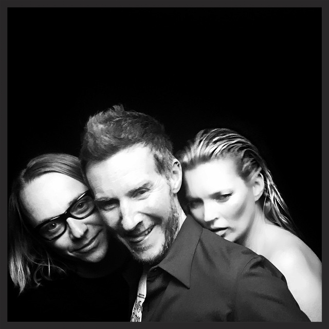 The director of the Ritual Spirit video, Dusan Reljin, pictured with 3D and Kate Moss in 2015.