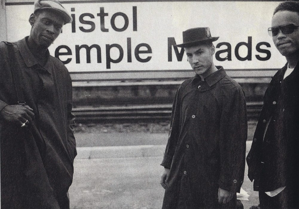Massive Attack at Bristol's Temple Meads train station in 1991.