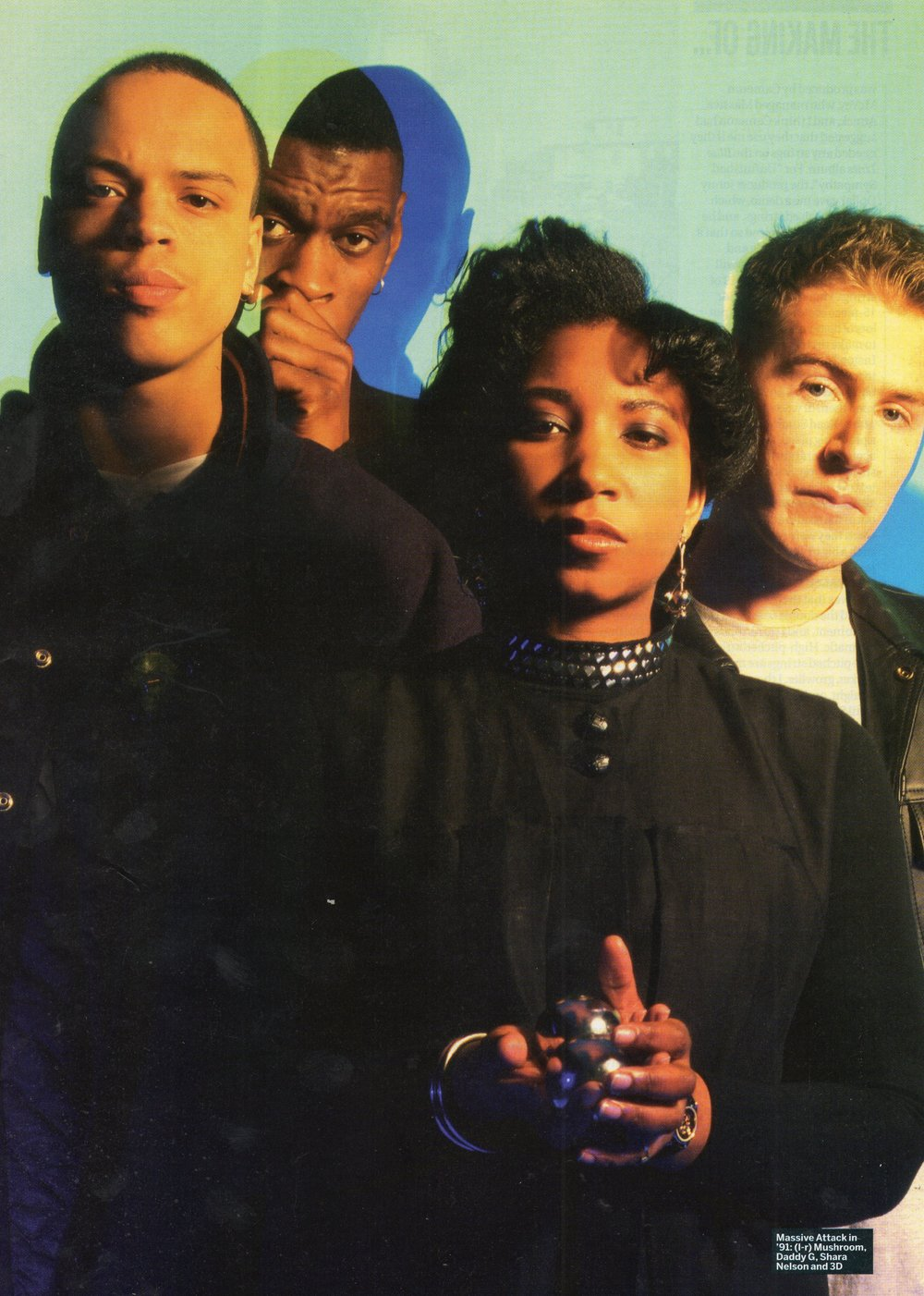 Massive Attack and Shara Nelson.