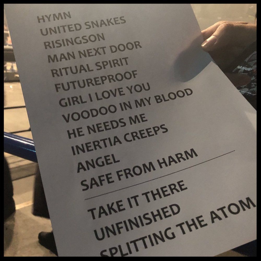 Setlist from the recent Asian tour.