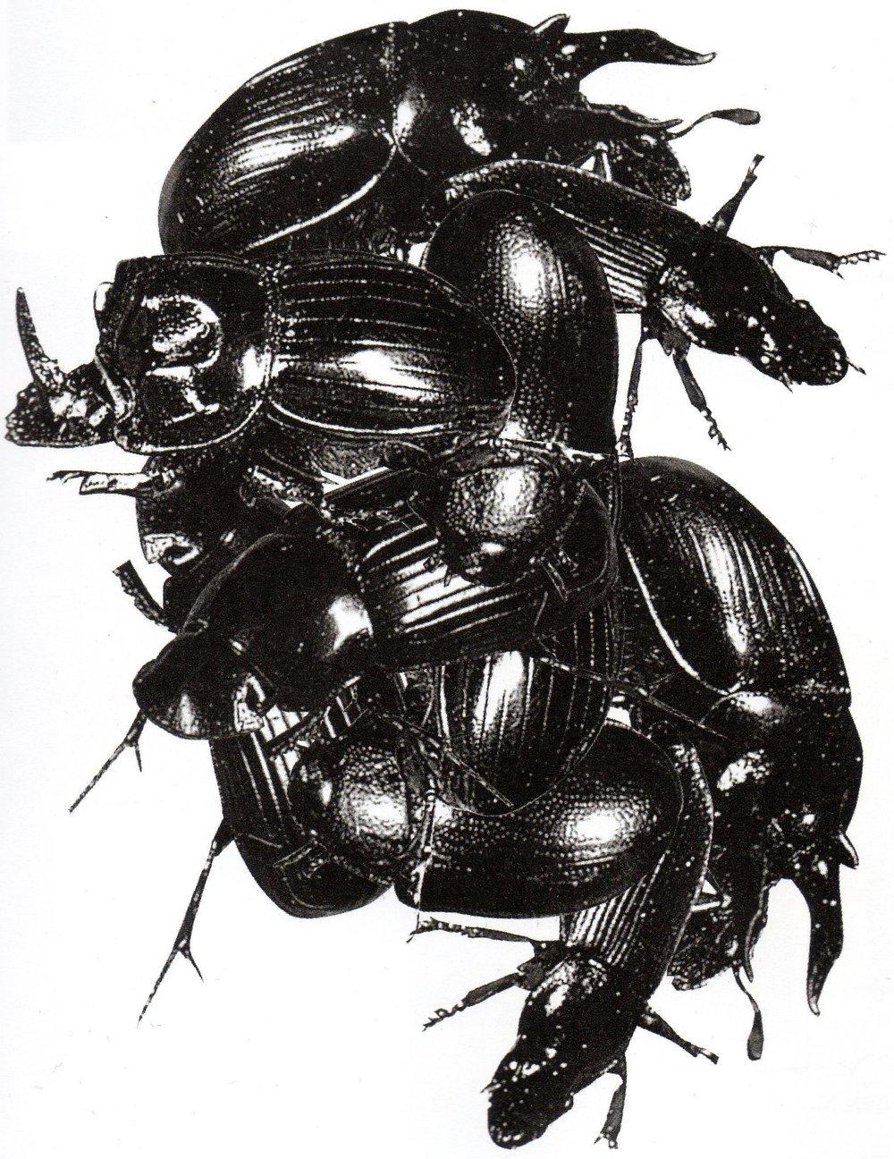 Early design sketch of the album artwork of Mezzanine.