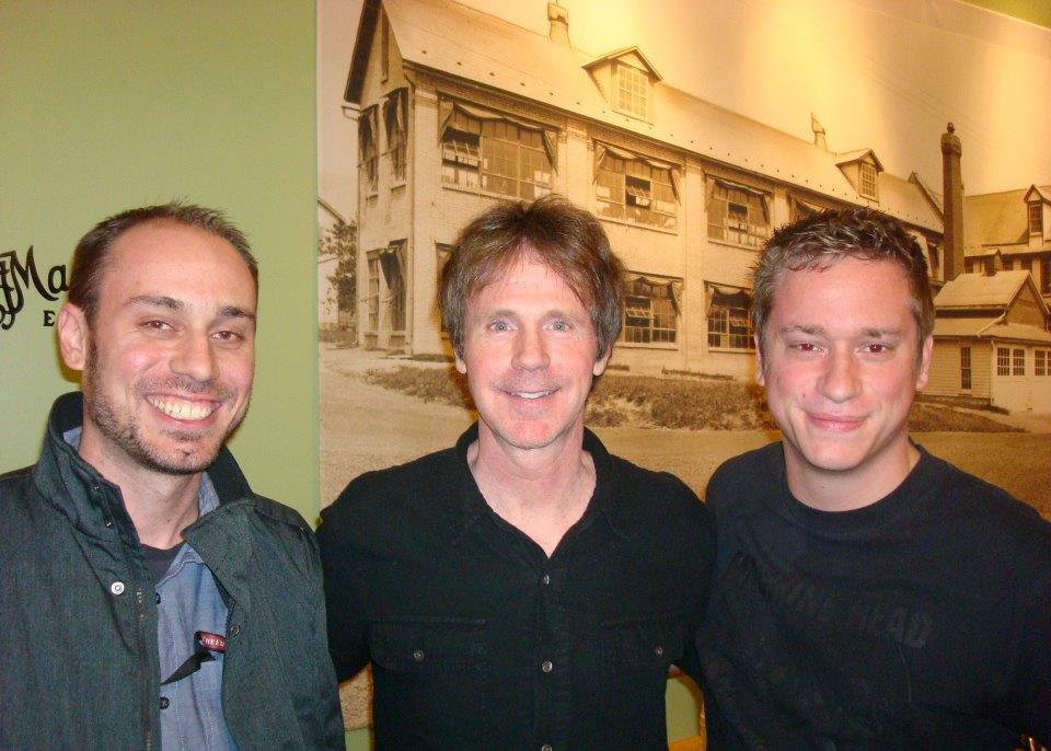 Backstage with Dana Carvey, center, and my brother, Jeremy, right, in 2011 at the State Theatre in Easton.