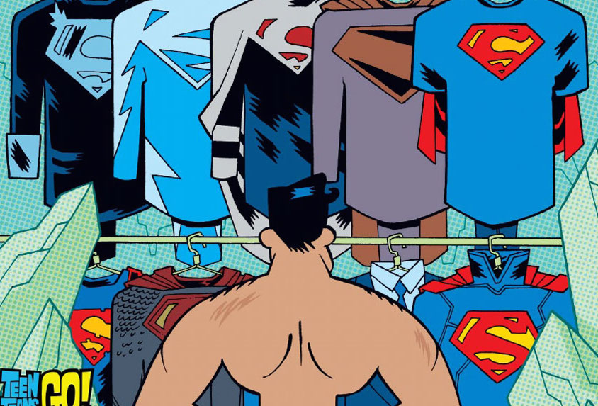 """Teen Titans GO!"" variant cover for DC Comics' ""Superman"" No. 42. (DC Comics Photo)"