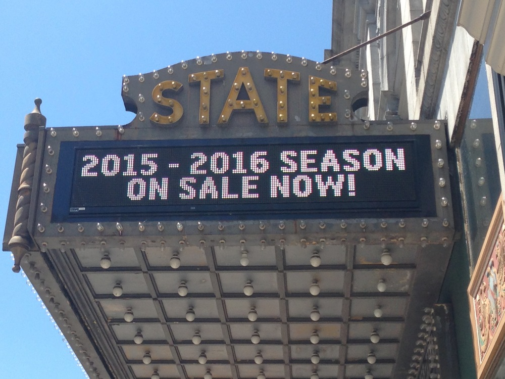 Tickets for the State Theatre's 2015-16 season went on sale today to theater members. Tickets for the public go on sale Aug. 18.