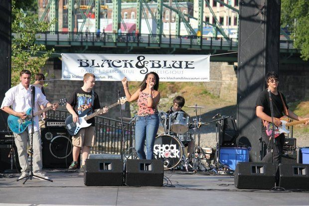 The School of Rock's Bank Street Band performs Friday at Valley Preferred Cycling Center in Upper Macungie Township.  (School of Rock/Courtesy Photo)